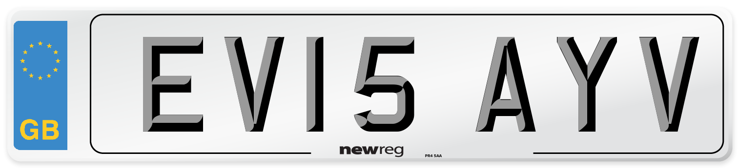 EV15 AYV Number Plate from New Reg