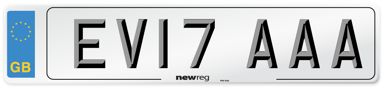 EV17 AAA Number Plate from New Reg