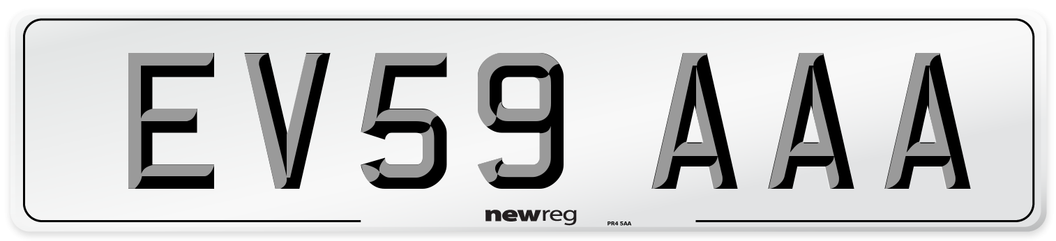 EV59 AAA Number Plate from New Reg