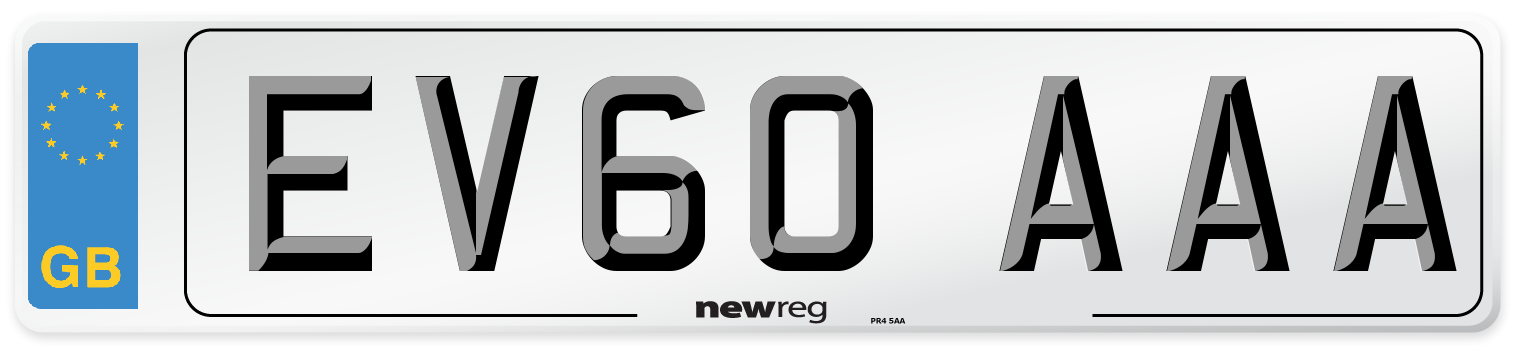EV60 AAA Number Plate from New Reg