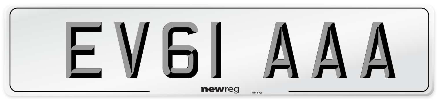 EV61 AAA Number Plate from New Reg