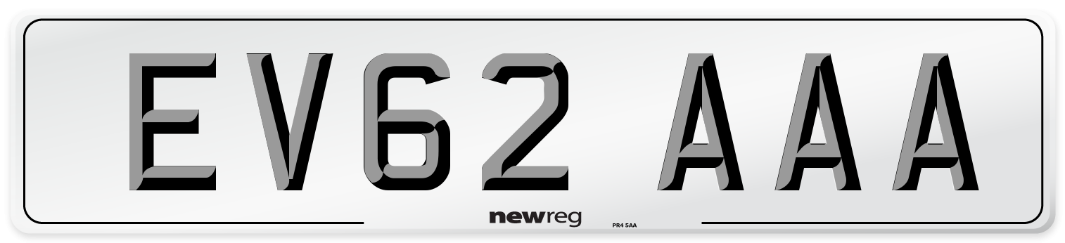 EV62 AAA Number Plate from New Reg