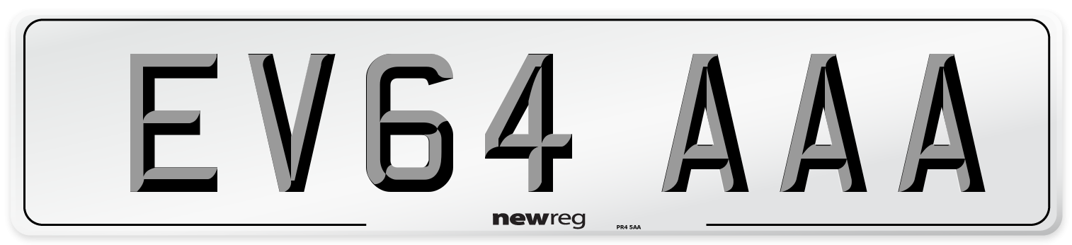 EV64 AAA Number Plate from New Reg