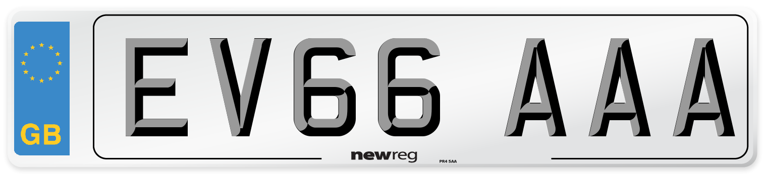 EV66 AAA Number Plate from New Reg