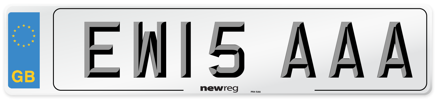 EW15 AAA Number Plate from New Reg