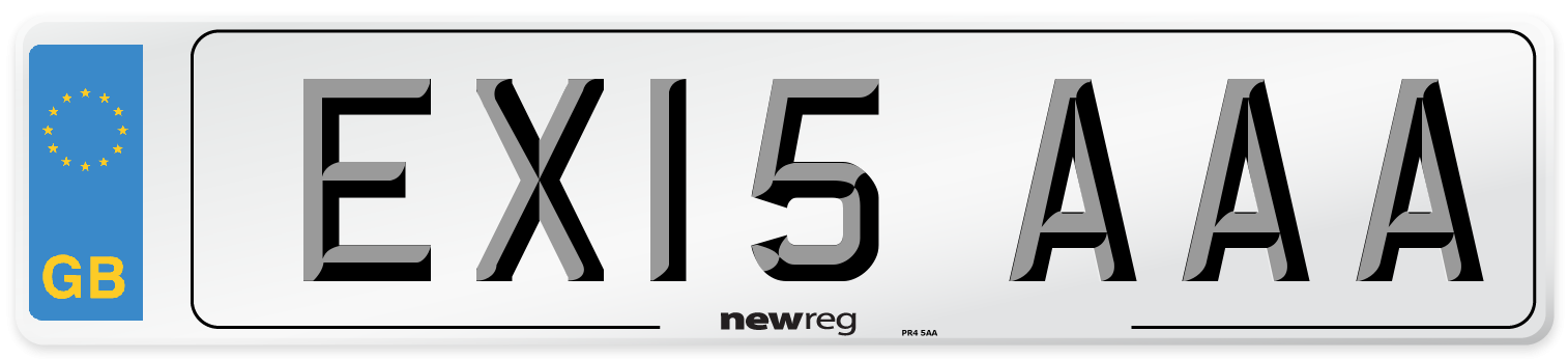 EX15 AAA Number Plate from New Reg