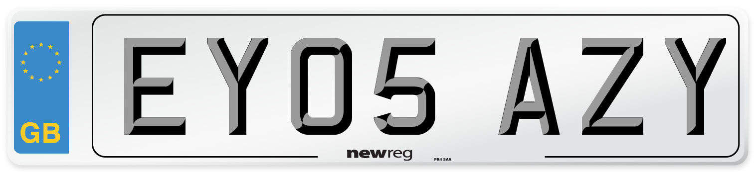 EY05 AZY Number Plate from New Reg