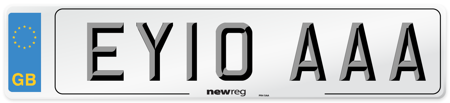 EY10 AAA Number Plate from New Reg