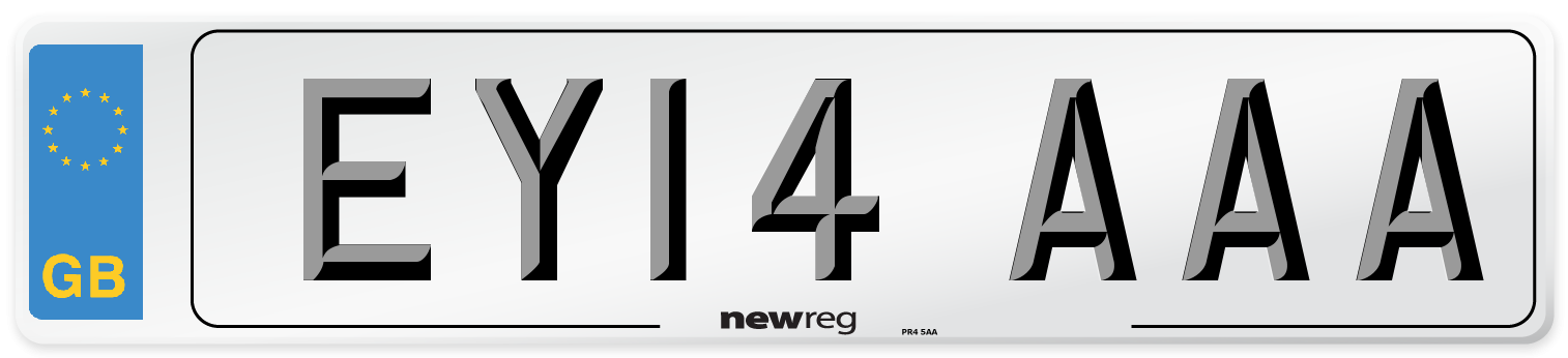 EY14 AAA Number Plate from New Reg
