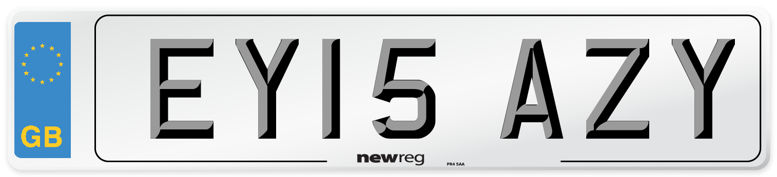 EY15 AZY Number Plate from New Reg