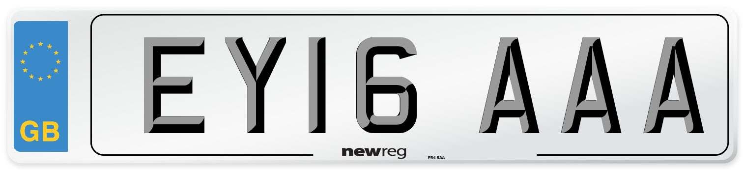 EY16 AAA Number Plate from New Reg