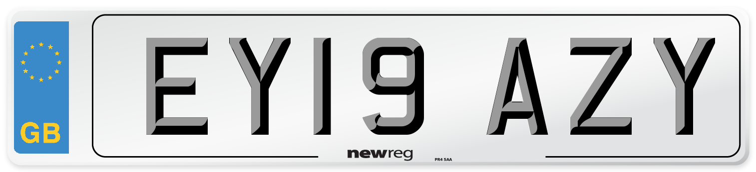 EY19 AZY Number Plate from New Reg