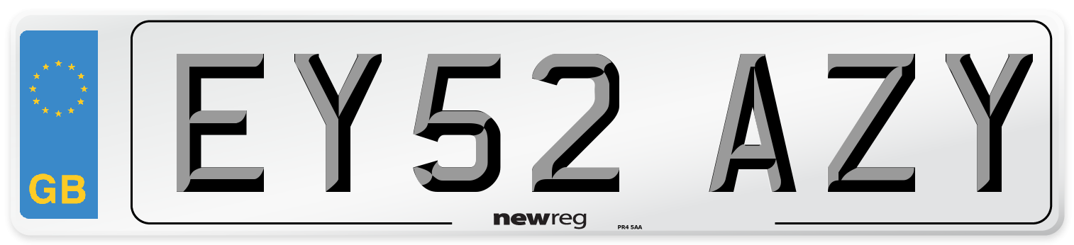 EY52 AZY Number Plate from New Reg