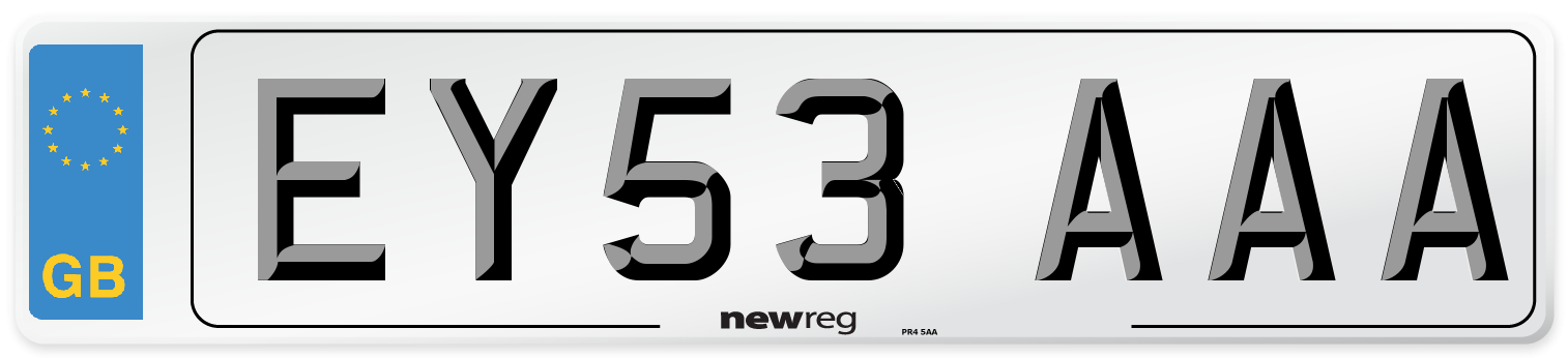 EY53 AAA Number Plate from New Reg
