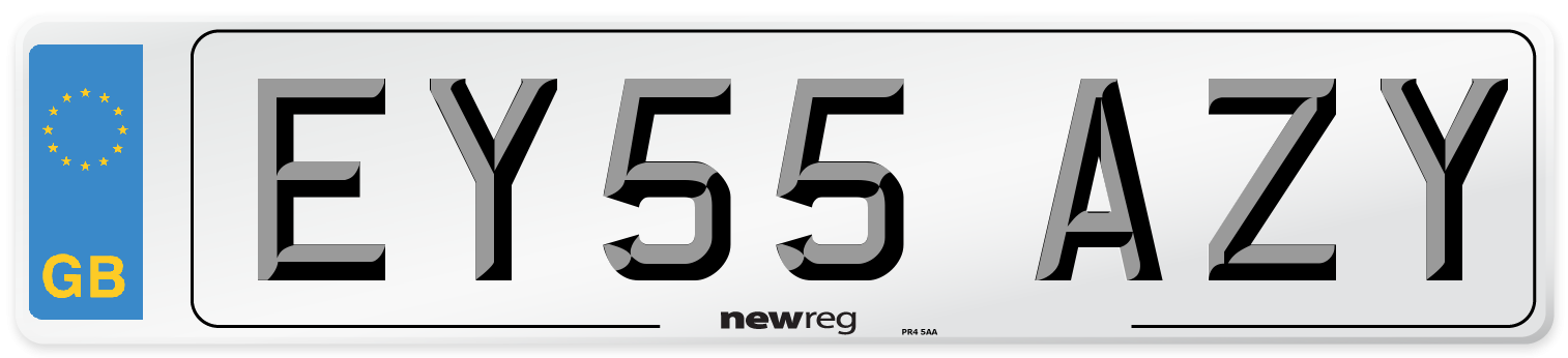 EY55 AZY Number Plate from New Reg
