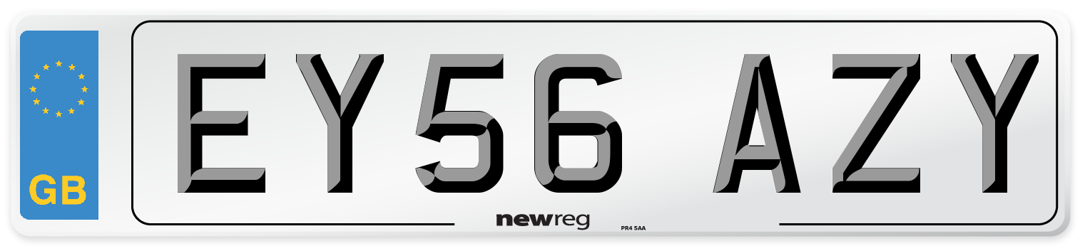 EY56 AZY Number Plate from New Reg