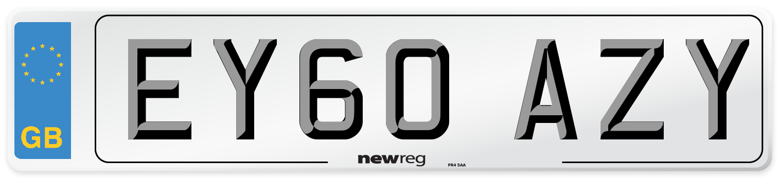 EY60 AZY Number Plate from New Reg