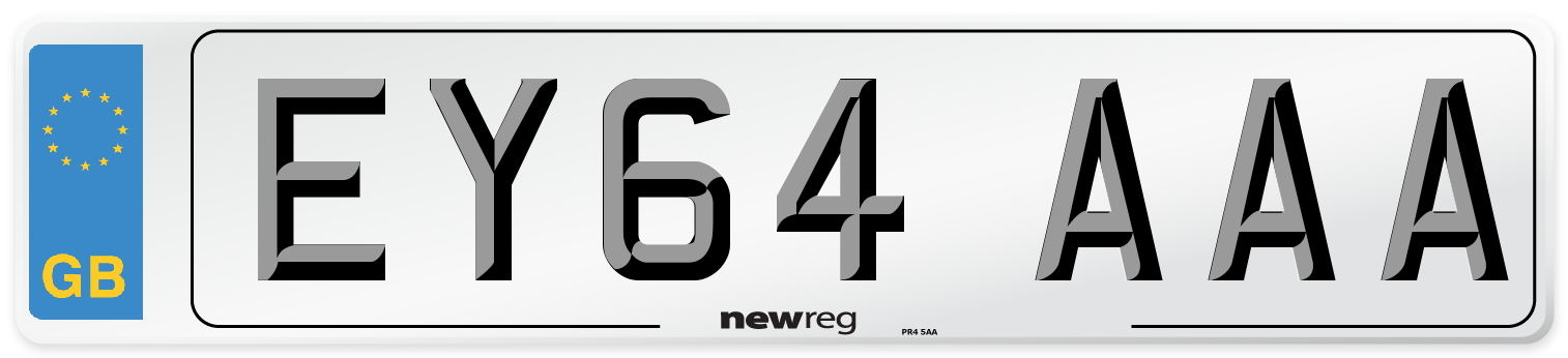 EY64 AAA Number Plate from New Reg