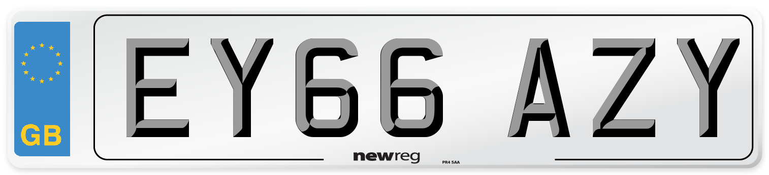 EY66 AZY Number Plate from New Reg