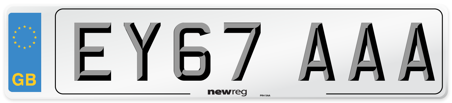 EY67 AAA Number Plate from New Reg