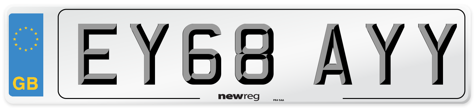 EY68 AYY Number Plate from New Reg