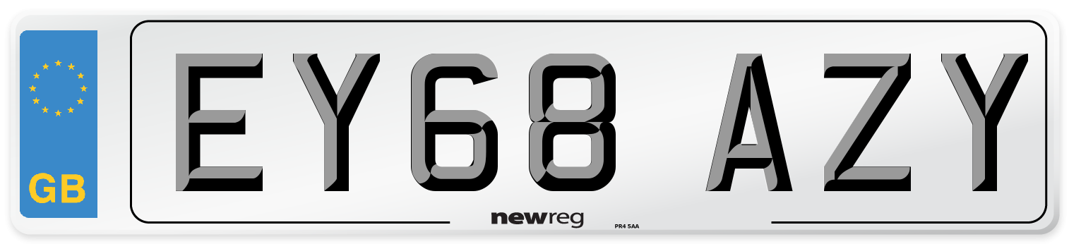 EY68 AZY Number Plate from New Reg