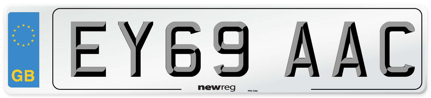 EY69 AAC Number Plate from New Reg