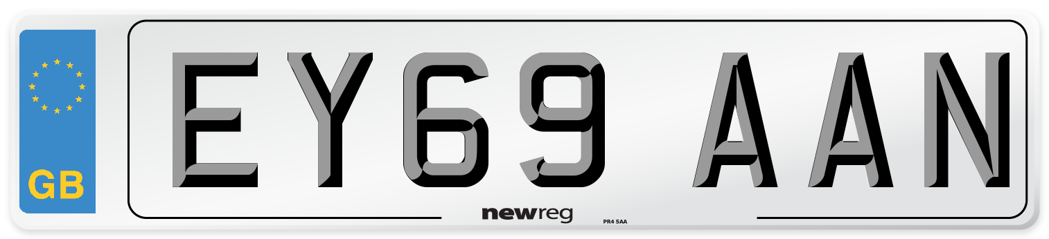 EY69 AAN Number Plate from New Reg