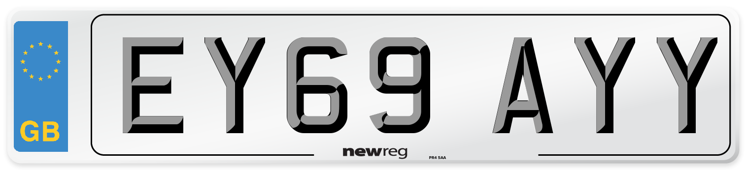 EY69 AYY Number Plate from New Reg