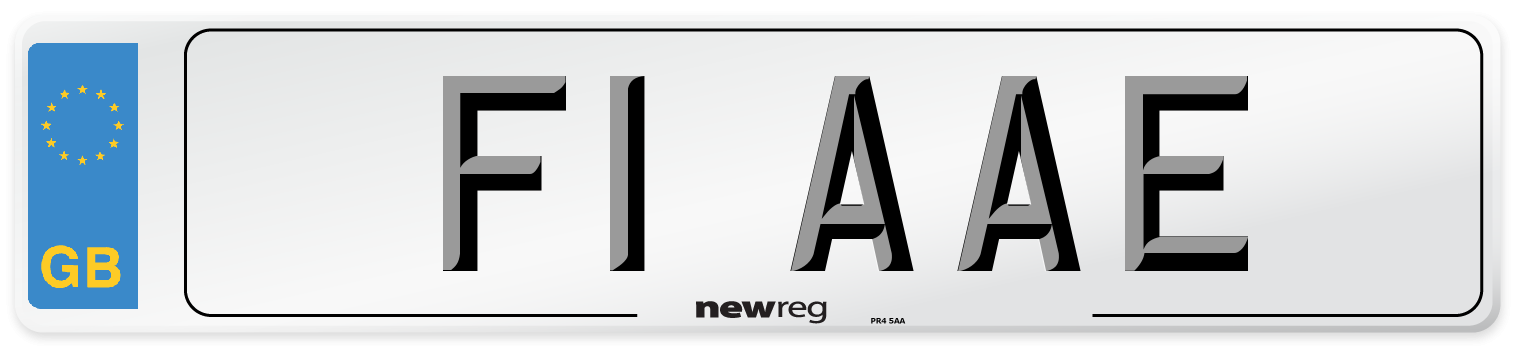 F1 AAE Number Plate from New Reg