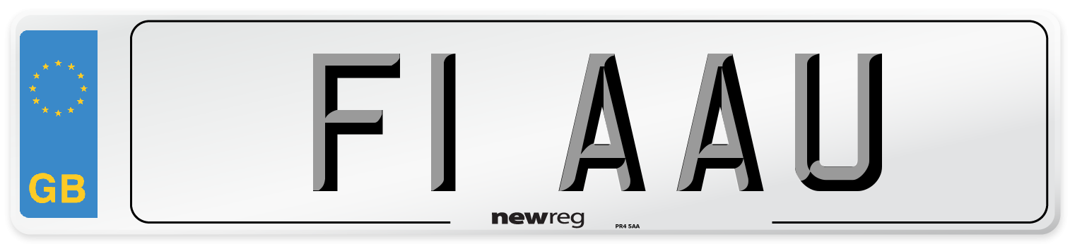 F1 AAU Number Plate from New Reg