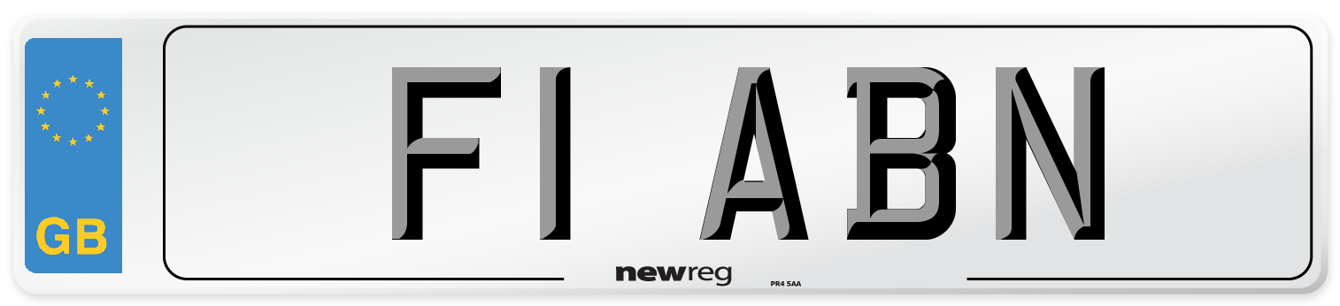 F1 ABN Number Plate from New Reg