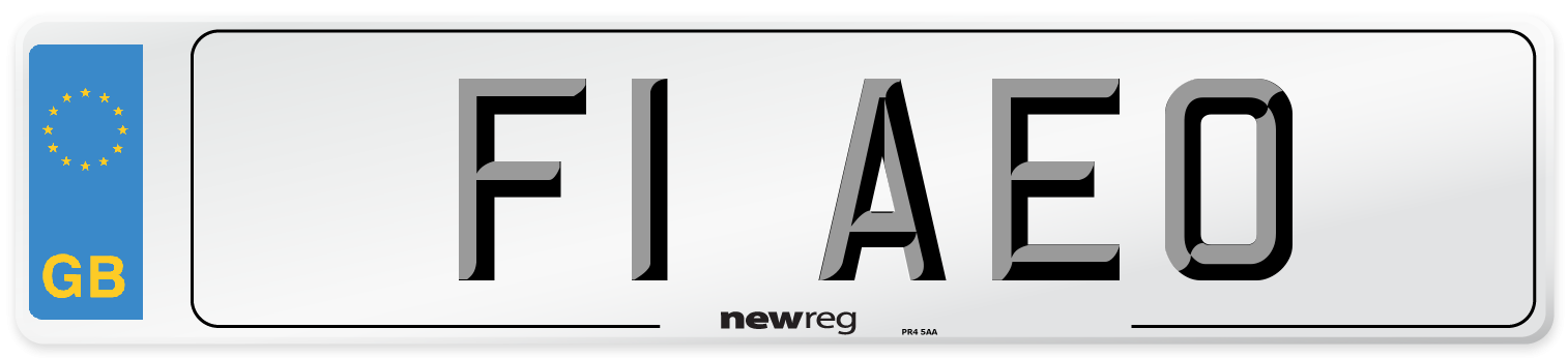 F1 AEO Number Plate from New Reg