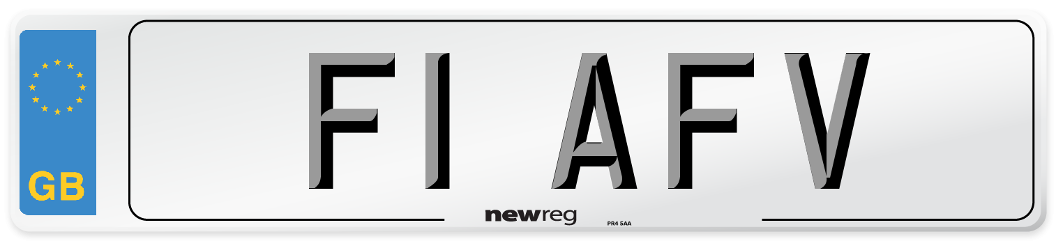 F1 AFV Number Plate from New Reg