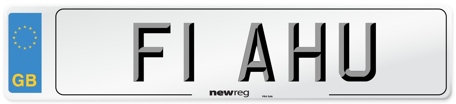 F1 AHU Number Plate from New Reg