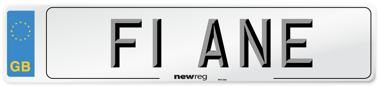 F1 ANE Number Plate from New Reg