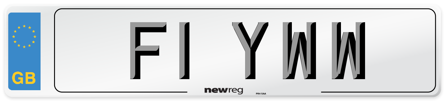 F1 YWW Number Plate from New Reg