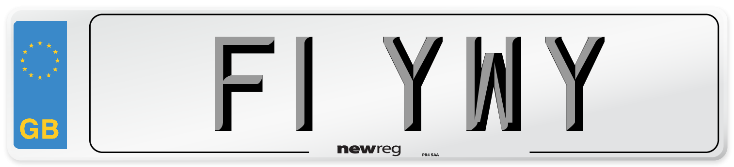F1 YWY Number Plate from New Reg