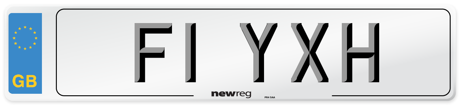 F1 YXH Number Plate from New Reg