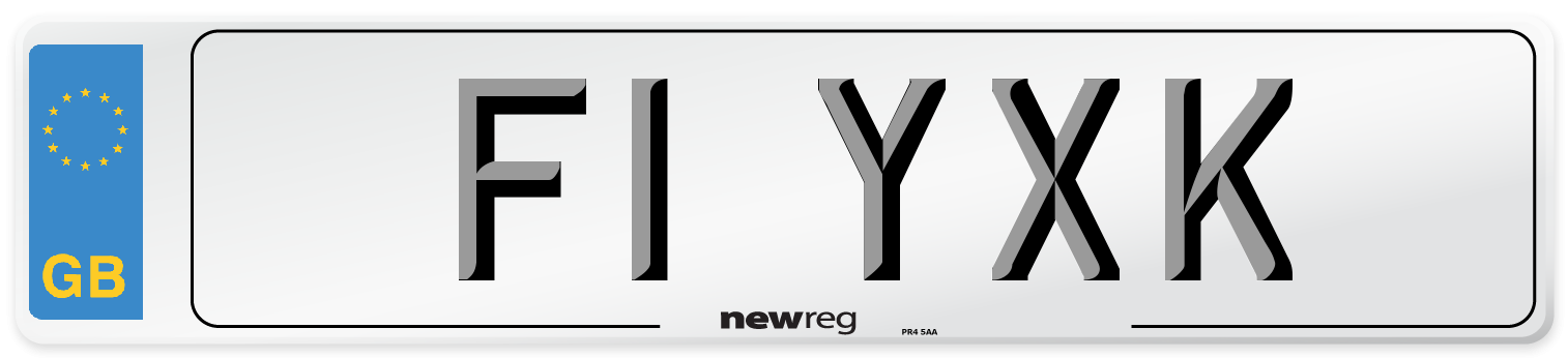F1 YXK Number Plate from New Reg