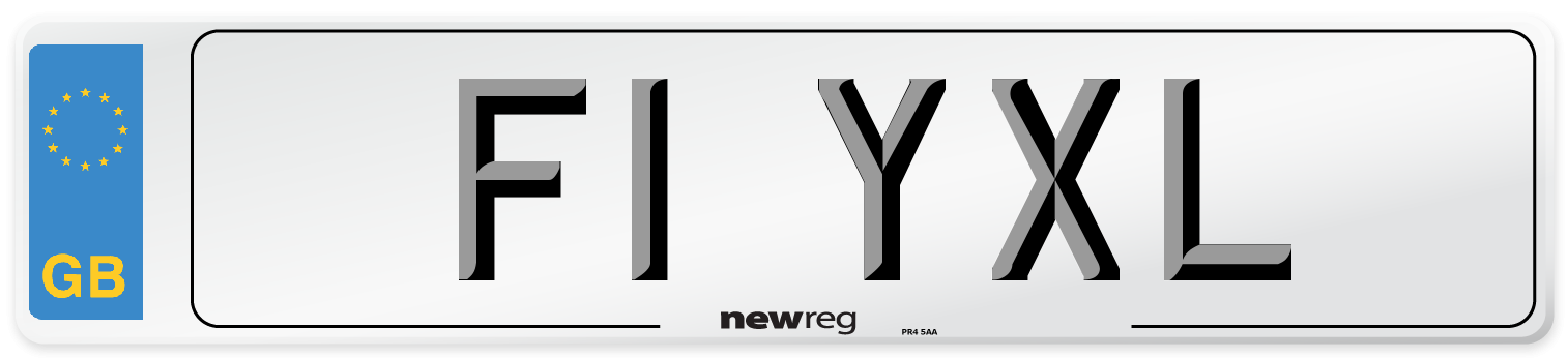 F1 YXL Number Plate from New Reg