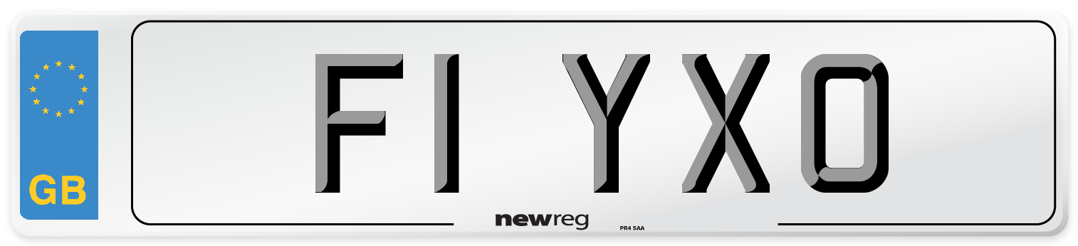F1 YXO Number Plate from New Reg
