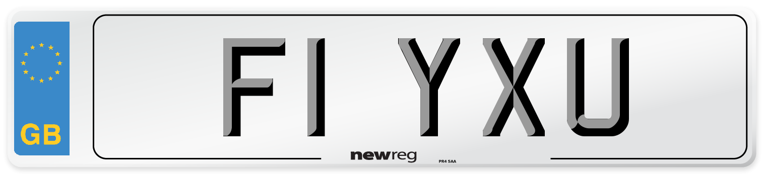 F1 YXU Number Plate from New Reg