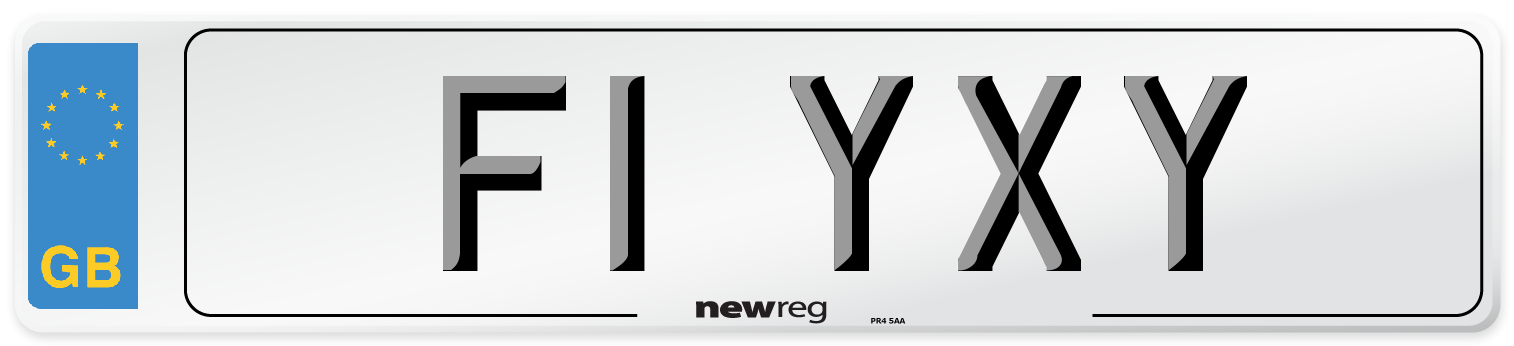 F1 YXY Number Plate from New Reg