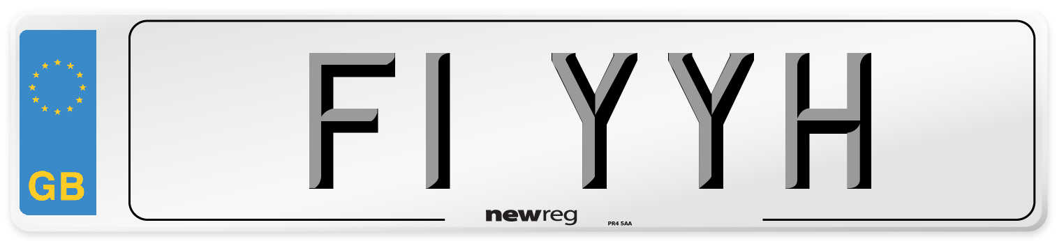 F1 YYH Number Plate from New Reg