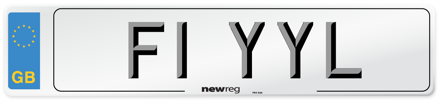F1 YYL Number Plate from New Reg