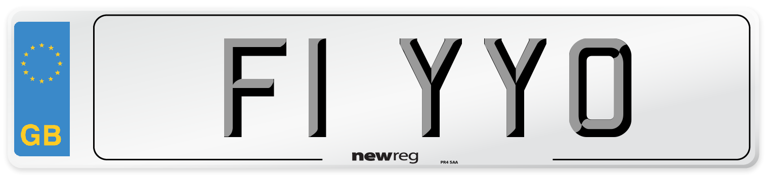 F1 YYO Number Plate from New Reg