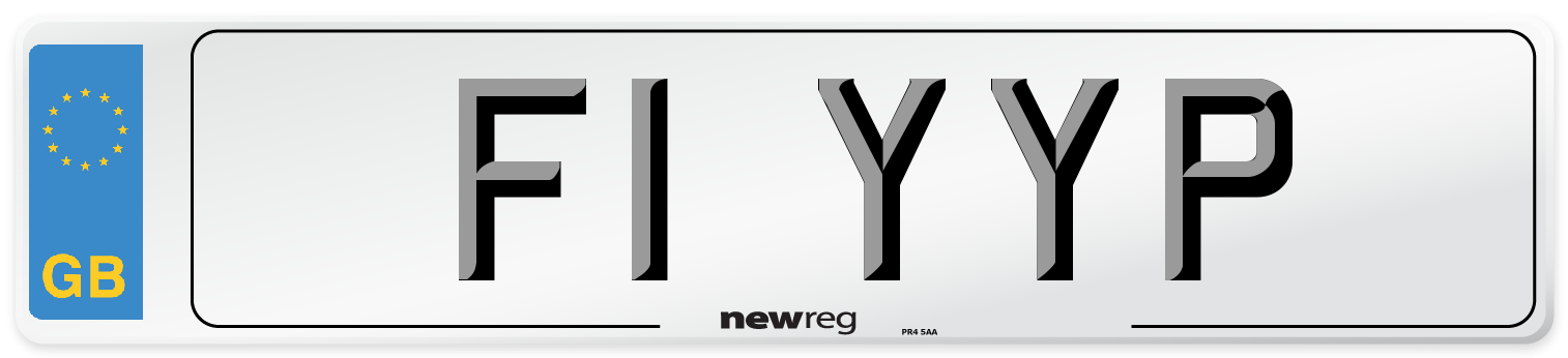 F1 YYP Number Plate from New Reg