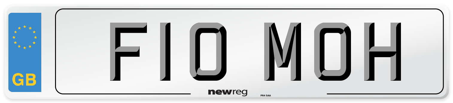 F10 MOH Number Plate from New Reg
