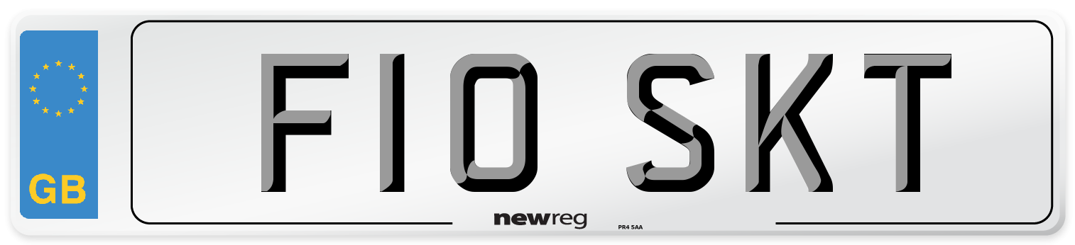 F10 SKT Number Plate from New Reg
